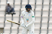 James Vince of Hampshire during the Specsavers County Champ Div 1 match between Hampshire County Cricket Club and Worcestershire County Cricket Club at the Ageas Bowl, Southampton, United Kingdom on 13 April 2018. Picture by Graham Hunt.