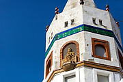 Octagonal Minaret, Moroccan Mosque architecture, Tetouan Medina, Rif region of Northern Morocco, 2016-04-06. <br />