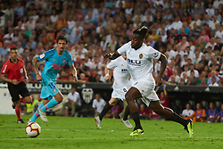 August 20, 2018 - Valencia, U.S. - VALENCIA, SPAIN  - AUGUST 20:  Michy Batshuayi forward of Valencia cf  with the ball during the La Liga between Valencia CF and Atletico de Madrid on August 20, 2018 at Mestalla in Valencia, Spain. (Photo by Carlos Sanchez Martinez/Icon Sportswire) (Credit Image: © Carlos Sanchez Martinez/Icon SMI via ZUMA Press)