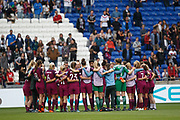 Manchester City Team during the UEFA Women's Champions League, semi final, 2nd leg football match between Olympique Lyonnais and Manchester City on April 29, 2018 at Groupama stadium in Décines-Charpieu near Lyon, France - Photo Romain Biard / Isports / ProSportsImages / DPPI