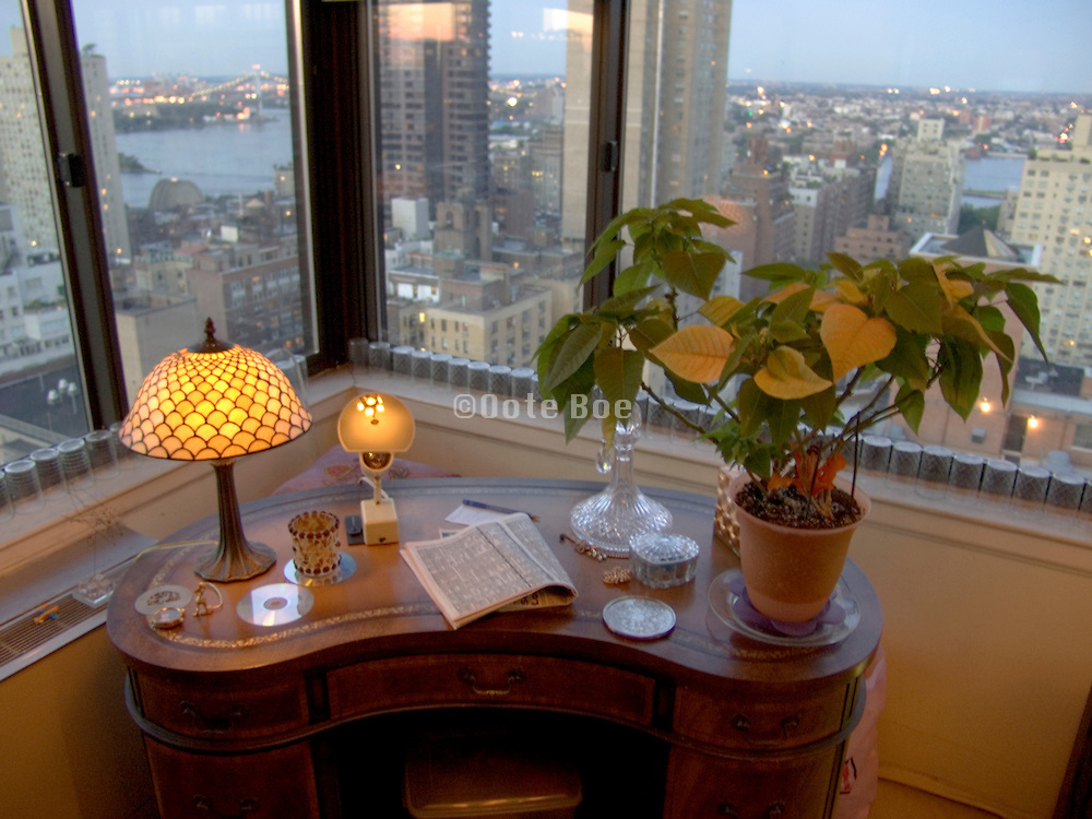 corner in a residential high rise apartment New York City