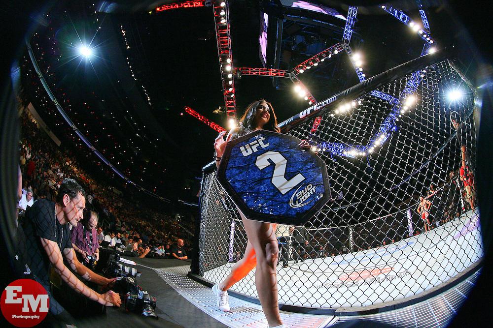 Atlanta, GA - April 21, 2012: Octagon Girl Arianny Celeste during UFC 145 at the Phillips Arena in Atlanta, Georgia.