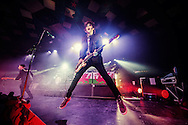 Nicky Wire of the Manic Street Preachers performs on stage at Barrowlands Ballroom on December 8, 2014 in Glasgow, United Kingdom. (Photo by Ross Gilmore)