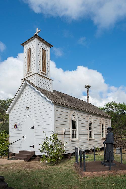 USA, Hawaii, Molokai, St.Joseph church, Saint Damien statue
