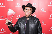 Opetia winner of the Special recognition award at the Vodafone Pacific Music Awards 2017, held at the Vector Arena.<br /> <br /> Image Credit: Topic