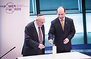 Holocaust Memorial Day <br /> A ceremony to commemorate Holocaust Memorial Day in a ceremony in the Chamber at City Hall, London, Great Britain<br /> 22nd January 2018 <br /> <br />  <br /> Mayor and Assembly join Londoners for Holocaust Memorial Day ceremony<br />  <br /> <br /> <br /> Manfred Goldberg<br /> Holocaust Survivor<br /> And <br /> Kemal Pervanic<br /> Survivor of Bosnian Genocide<br /> Light the memorial candle