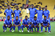Team Fiji before the New Zealand All Whites v Fiji, FIFA Football World Cup Qualification, OFC Final Group Stage. Westpac Stadium, Wellington, New Zealand. 28 March 2017. Copyright Image: Mark Tantrum / www.photosport.nz