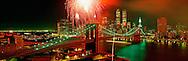 Brooklyn Bridge Centennial Fireworks, May 24,  1983 Manhatttan, New York City, New York
