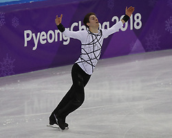 February 17, 2018 - Pyeongchang, KOREA - Morisi Kvitelashvili of Georgia competing in the men's figure skating free skate program during the Pyeongchang 2018 Olympic Winter Games at Gangneung Ice Arena. (Credit Image: © David McIntyre via ZUMA Wire)