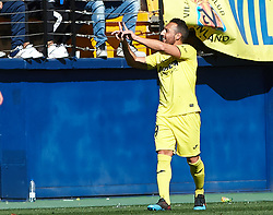 February 3, 2019 - Vila-Real, Castellon, Spain - Santiago Cazorla of Villarreal celebrates a goal during the La Liga match between Villarreal and Espanyol at Estadio de la Ceramica on February 3, 2019 in Vila-real, Spain. (Credit Image: © AFP7 via ZUMA Wire)