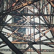 Stahlgerüst der Müngstener Brücke, Remscheid, Deutschland