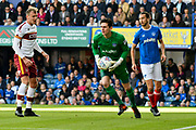 Luke McGee (1) of Portsmouth during the EFL Sky Bet League 1 match between Portsmouth and Bradford City at Fratton Park, Portsmouth, England on 28 October 2017. Photo by Graham Hunt.