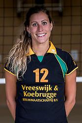 26-10-2017 NED: Teamfoto Prima Donna Kaas vrouwen, Huizen<br /> In de PDK arena van Huizen werden de vrouwen van Elroy Bezemer op de foto gezet. Eva Hilhorst #12 of PDK Huizen