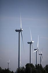 NETHERLANDS AMSTERDAM 11MAY11 - Wind turbines at the port of Amsterdam, Netherlands...Photo by Jiri Rezac