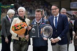 Van der Net Inge, Eric Bruger, Boyd Exell<br /> Best driver of 2016<br /> L'Année Hippique Awards<br /> CHI de Genève 2016<br /> © Hippo Foto - Dirk Caremans<br /> 09/12/2016
