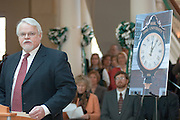 Baker Center Dedication..Dedication Ceremony.Dedication of Phi Beta Kappa Clock..John Churchill