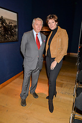 DON McCULLIN and KATE SILVERTON at a lecture featuring Don McCullin talking on War and Peace with Kate Silverton in aid of TUSK at Christie's, 8 King Street, London on 9th December 2015.