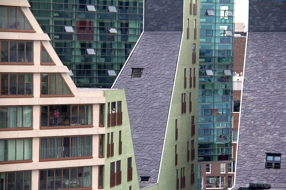 Europe, Netherlands, Amsterdam. Modern Architecture of Amsterdam.