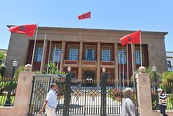 June 28, 2017 - Rabat, Morocco - A general view of the Parliament of Morocco building in Rabat..On Wednesday, June 28, 2017, in Rabat, Morocco. (Credit Image: © Artur Widak/NurPhoto via ZUMA Press)