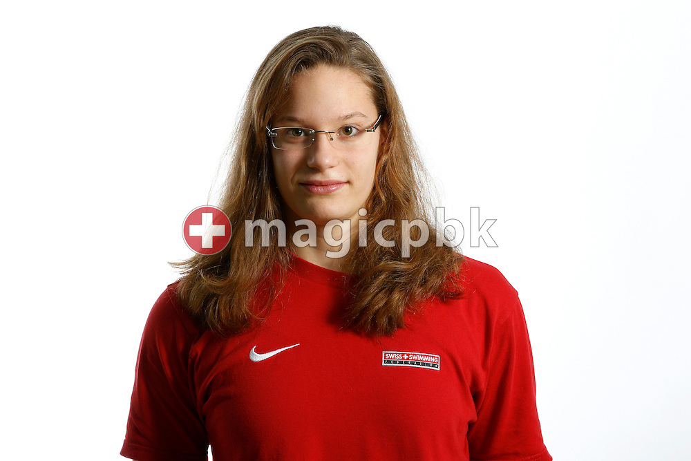 Swimmer Ava PRETRE of Switzerland poses during a portrait session during the International Swim Meet Uster 2012 in Uster, Switzerland, Saturday, Jan. 28, 2012. (Photo by Patrick B. Kraemer / MAGICPBK)