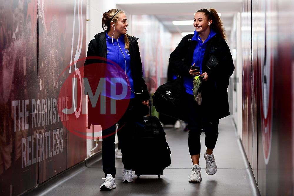 Everton Women arrives at Ashton Gate Stadium prior to kick off - Mandatory by-line: Ryan Hiscott/JMP - 17/02/2020 - FOOTBALL - Ashton Gate Stadium - Bristol, England - Bristol City Women v Everton Women - Women's FA Cup fifth round