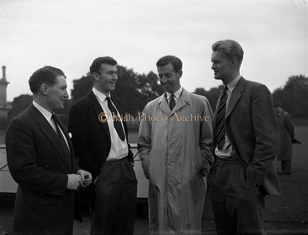 06/09/1958<br /> 09/06/1958<br /> 06 September 1958<br /> Cricket M.C.C. v Ireland International at College Park, Dublin, Centenary Match. Some of the players.