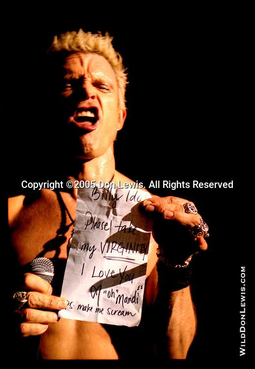 Billy Idol, Hollywood, CA, March 25, 2005.