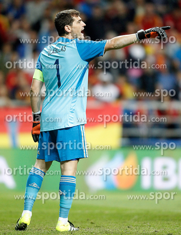 05.09.2015, Stadio Nuevo Carlos Tartiere, Oviedo, ESP, UEFA Euro 2016 Qualifikation, Spanien vs Slowakei, Gruppe C, im Bild Spain's Iker Casillas // during the UEFA EURO 2016 qualifier Group C match between Spain and Slovakia at the Stadio Nuevo Carlos Tartiere in Oviedo, Spain on 2015/09/05. EXPA Pictures &copy; 2015, PhotoCredit: EXPA/ Alterphotos/ Acero<br /> <br /> *****ATTENTION - OUT of ESP, SUI*****