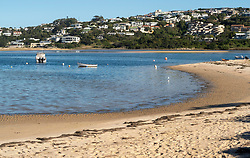 South Africa - Plettenberg Bay - 23 April 2020 - A usually bustling Poortjies lagoon beach is empty with only a couple of what is presumed to be subsistence fishermen in the area. South Africa is currently under lockdown in an attempt to flatten the curve to halt the spread of the COVID-19 coronavirus pandemic. Picture: David Ritchie/African News Agency(ANA)