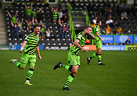 Football - 2020 / 2021 EFL League Two - Forest Green Rovers vs Bradford City<br /> <br /> Forest Green Rovers' Carl Winchester celebrates scoring his sides opening goal, at the New Lawn Stadium<br /> <br /> COLORSPORT/ASHLEY WESTERN