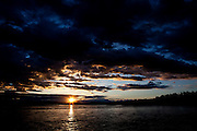 Alaska2010.-The sun sets over the Talkeetna River just outside of Denali National Park in Alaska.