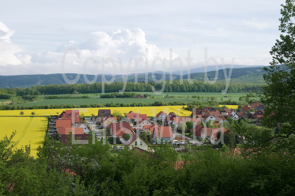 Neubaugebiet, Stapelburg, Harz, Sachsen-Anhalt, Deutschland   Stapelburg, Harz, Saxony-Anhalt, Germany