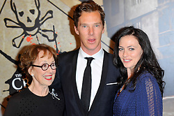 Una Stubbs, Lara Pulver and Benedict Cumberbatch at the  Crime Thriller Awards  in London, Thursday, 18th October 2012 Photo by: Chris Joseph / i-Images