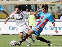 """Cervo de Luca Cesar (Catania) Andrea Pirlo (Milan)<br /> Italian """"Serie A"""" 2006-07 <br /> 13 May 2007 (Match Day 36)<br /> Catania-Milan (1-1)<br /> """"Renato Dall'Ara"""" Stadium-Bologna-Italy<br /> Photographer Luca Pagliaricci INSIDE"""
