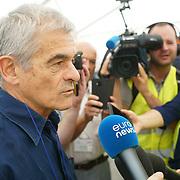 Saint-Martin-La-Porte (Francia) 8 agosto 2018: Sergio Chiamparino cantieri della sezione transfrontaliera della linea Tav Torino-Lione la fresa Federica ha superato il 50% dello scavo dei primi 9 km del tunnel di base del Moncenisio