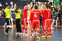 Benfica's players during UEFA Futsal Cup 2015/2016 3º/4º place match. April 22,2016. (ALTERPHOTOS/Acero)