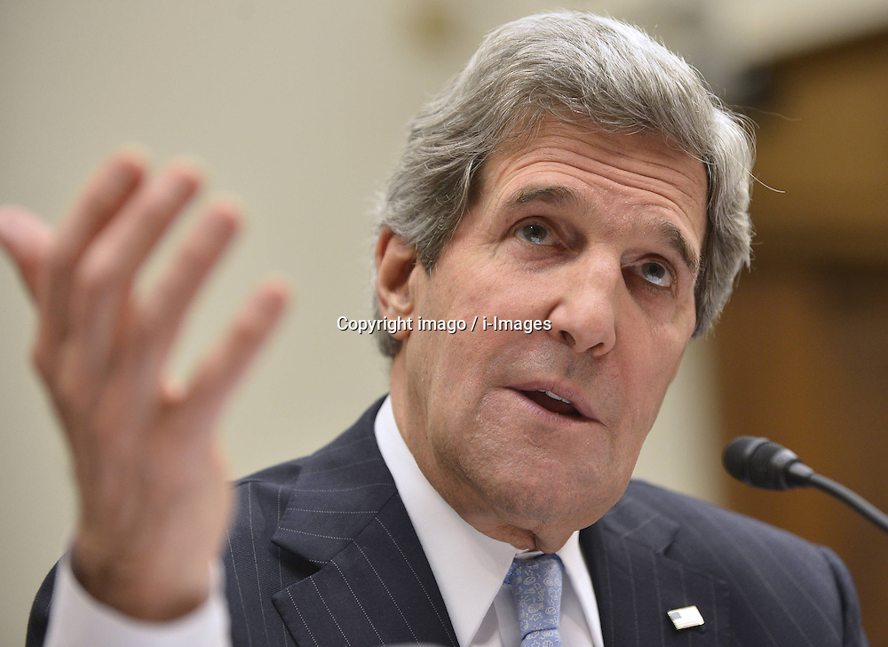 59531029  .U.S. Secretary of State John F. Kerry testifies before the U.S. House Foreign Affairs Committee on Securing U.S. Interests Abroad: the FY 2014 Foreign Affairs Budget , on Capitol Hill in Washington D.C., USA, on April 17, 2013, April 18, 2013. Photo by: imago / i-Images. .UK ONLY