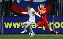 Zlatko Dedic of Slovenia and Jan Polak of Czech Republic at the 8th day qualification game of 2010 FIFA WORLD CUP SOUTH AFRICA in Group 3 between Slovenia and Czech Republic at Stadion Ljudski vrt, on March 28, 2008, in Maribor, Slovenia. Slovenia vs Czech Republic 0 : 0. (Photo by Vid Ponikvar / Sportida)