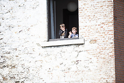 Young fans during the Fleche Wallonne Femme - a 118.5 km road race, starting and finishing in Huy on April 24, 2019, in Liege, Belgium. (Photo by Balint Hamvas/Velofocus.com)