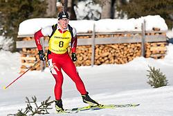 12.12.2010, Biathlonzentrum, Obertilliach, AUT, Biathlon Austriacup, Verfolgung Men, im Bild David Komatz (AUT, #8). EXPA Pictures © 2010, PhotoCredit: EXPA/ J. Groder