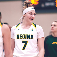 1st year guard, Gabby Kukura (7) of the Regina Cougars during the Women's Basketball Home Game on Fri Nov 02 at Centre for Kinesiology,Health and Sport. Credit: Arthur Ward/Arthur Images