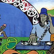 A bright murals in  Ruatoria., East Cape Road, New Zealand. 19th January 2010. Photo Tim Clayton.