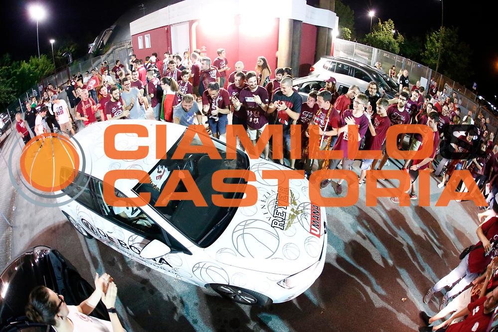 Arrivo al Taliercio e festeggiamenti<br /> Umana Reyer Venezia - Dolomiti energia Trento<br /> Lega Basket Serie A 2016/2017<br /> Play Off Finale Gara 6 <br /> Trento 20/06/2017<br /> Foto Ciamillo-Castoria/A. Gilardi