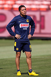 August 3, 2010; San Francisco, CA, USA;  Club America midfielder Israel Martinez (8) practices at Candlestick Park a day before their match with Real Madrid.