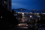 San Francisco, April 3 2012 - View over the city by night.