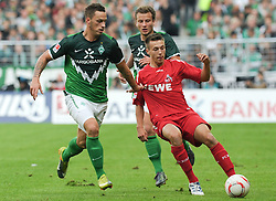 28.08.2010, Weserstadion, Bremen, GER, 1. FBL, Werder Bremen vs 1. FC Köln / Koeln, im Bild Marko Arnautovic (Bremen #7, links), Adam Matuschyk (Koeln #25, rechts), Philipp Bargfrede (Bremen #44, hinten)   EXPA Pictures © 2010, PhotoCredit: EXPA/ nph/  Frisch+++++ ATTENTION - OUT OF GER +++++
