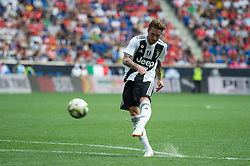 July 28, 2018 - Harrison, New Jersey, United States - Juventus forward LUCA CLEMENZA (38) takes a shot on goal during the International Champions Cup at Red Bull Arena in Harrison, NJ.  Juventes defeats SL Benfica 1-1  (Credit Image: © Mark Smith via ZUMA Wire)