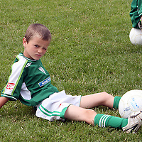 Brian Murphy was wondering what was going on at the other side of the pitch at the Moneypoint F.C F.A.I summer soccer camp in Kilrush during the week.<br /><br /><br /><br />Photograph by Yvonne Vaughan.