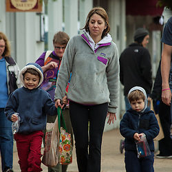 Shoppers at the season opener of the farmer's market in Worhtington Saturday May 3, 2014. (Christina Paolucci, photographer).