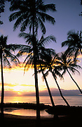 Sunset, Lahaina, Maui, Hawaii, USA<br />